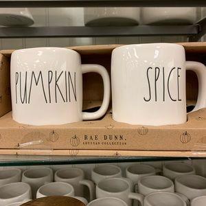 PUMPKIN SPICE Rae Dunn Mug Set NIB latte coffee